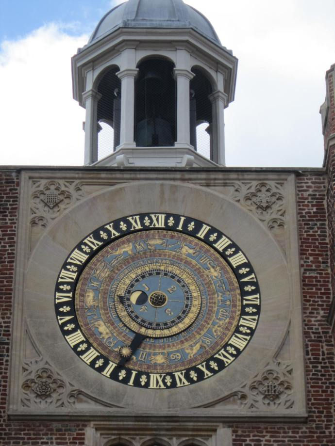 Henry VIII's Astronomical Clock - the rings variously show the day of the year, the time, the position of the sun in the zodiac and the phase of the moon.