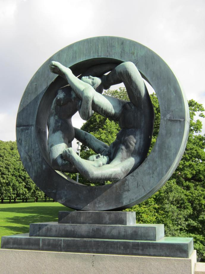 Man and woman inside ring, 1930-31